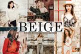 Last preview image of Beige Mobile & Desktop Lightroom Presets