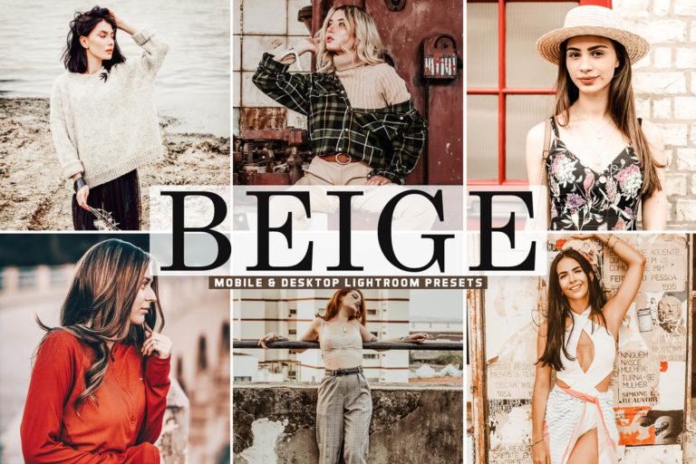 Preview image of Beige Mobile & Desktop Lightroom Presets