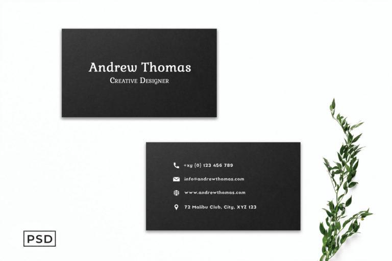 Preview image of Black Sober Business Card Template V2