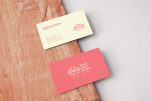 Minimal Bakery Business Card