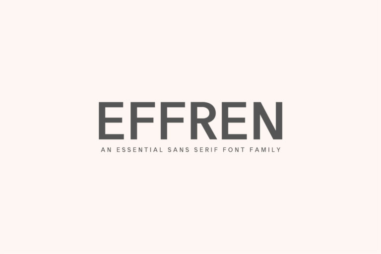 Preview image of Effren An Essential Sans Serif Font Family