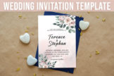 Last preview image of Floral Wedding Invitation Template