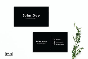 Black Minimalist Business Card Template