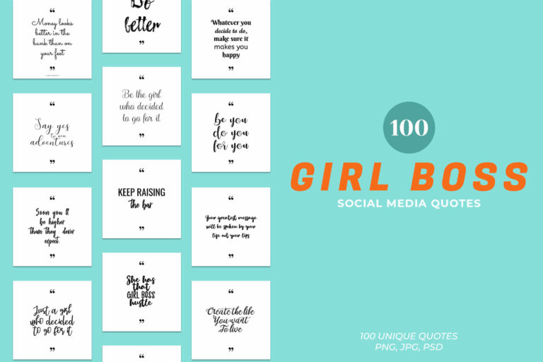 Preview image of Girl Boss Social Media Quotes