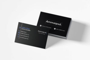 Black Sober Business Card Template