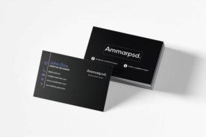 Black Sober Business Card Template