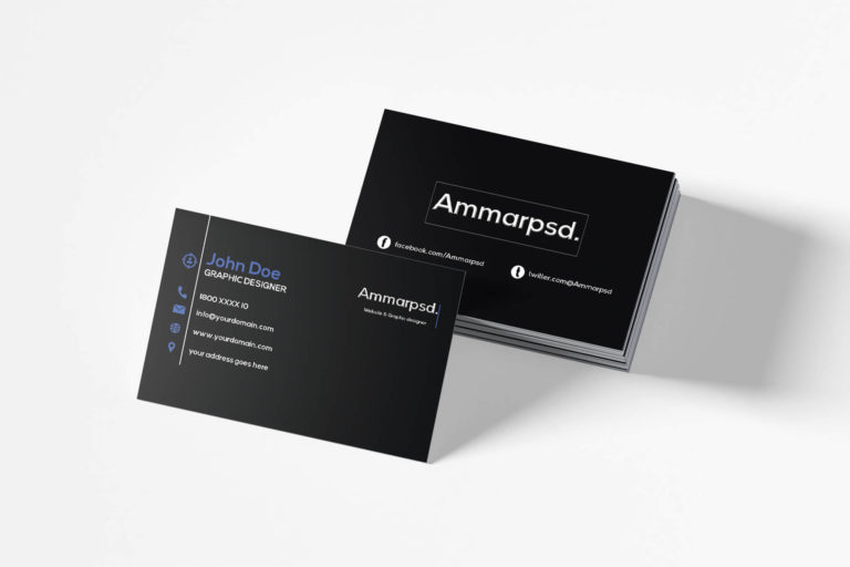 Preview image of Black Sober Business Card Template