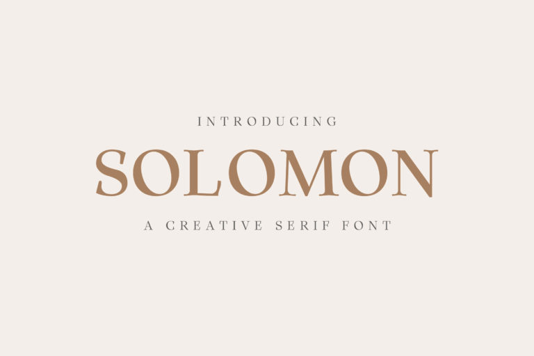 Preview image of Solomon Serif Font Family
