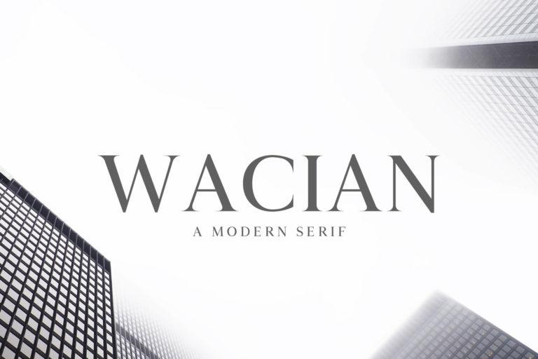 Preview image of Wacian Serif Font Family