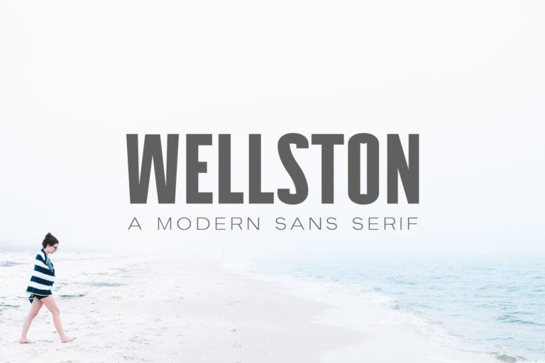 Preview image of Wellston Modern Sans Serif Font