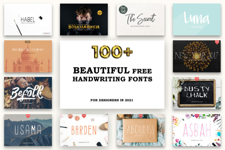 picture of 100 Beautiful Free Handwriting Fonts For Designers in 2021