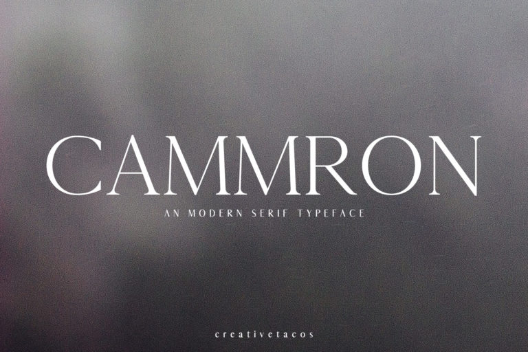 Preview image of Cammron Serif Font Family