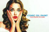 Last preview image of Comic Oil Paint Photoshop Actions