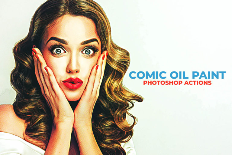 Preview image of Comic Oil Paint Photoshop Actions