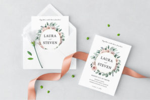 Wedding Wreath Wedding Invitation Template