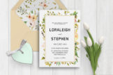 Last preview image of Beautiful Wreath Wedding Invitation Template