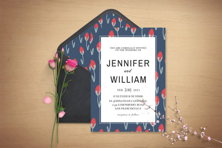 Preview image of Sober Wedding Invitation Template