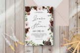 Last preview image of Radiant Bloom Floral Wedding Invitation Template