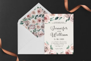 Rusty Wedding Invitation Template