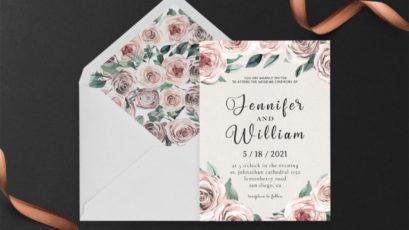 Rusty Wedding Invitation Template