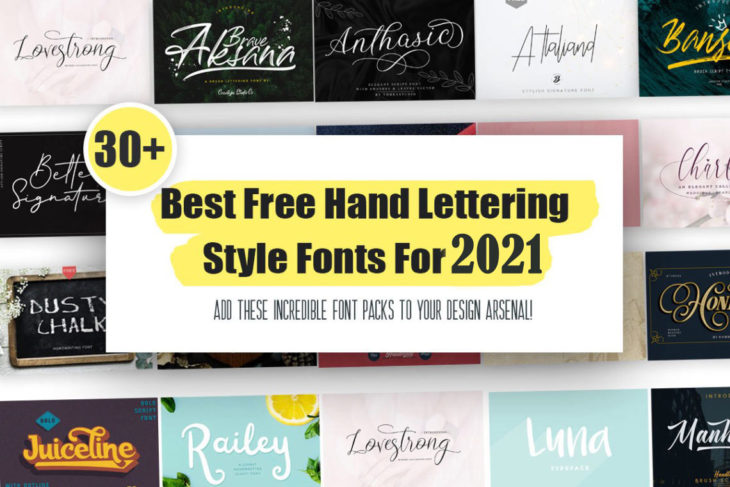 picture of 30+ Best Free Hand Lettering Style Fonts For 2021