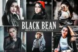 Last preview image of Black Bean Mobile & Desktop Lightroom Presets
