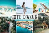 Last preview image of Cote D'Azur Mobile & Desktop Lightroom Presets