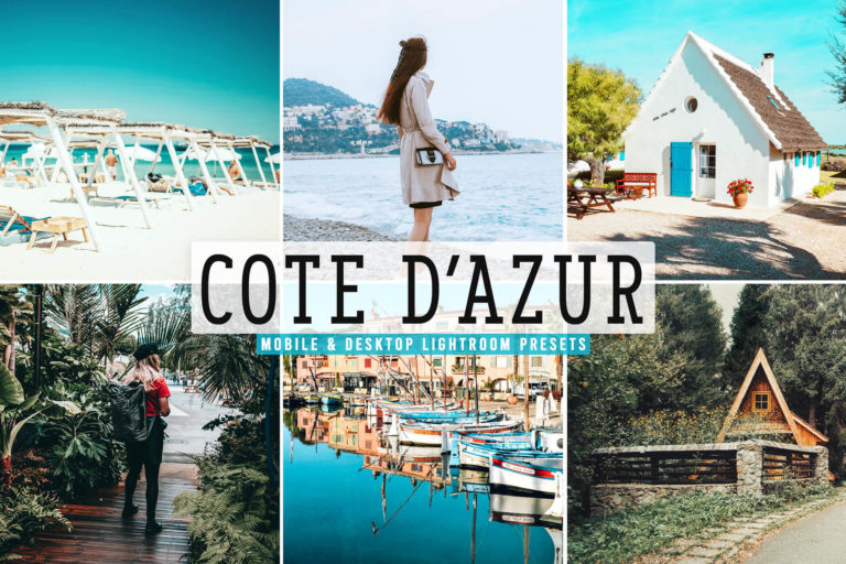 Preview image of Cote D'Azur Mobile & Desktop Lightroom Presets