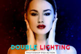 Last preview image of Double Lighting Photoshop PSD Action
