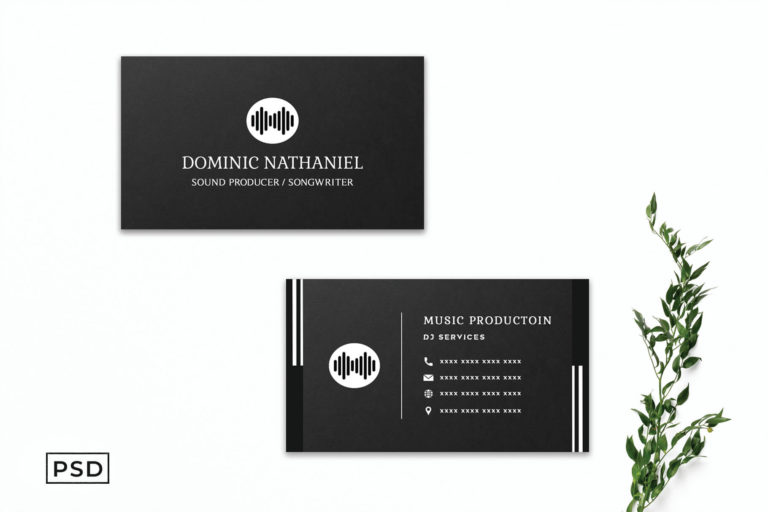 Preview image of Black Creative Business Card Template