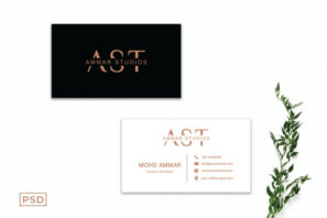 Minimal Creative Business Card Template Vol. 3