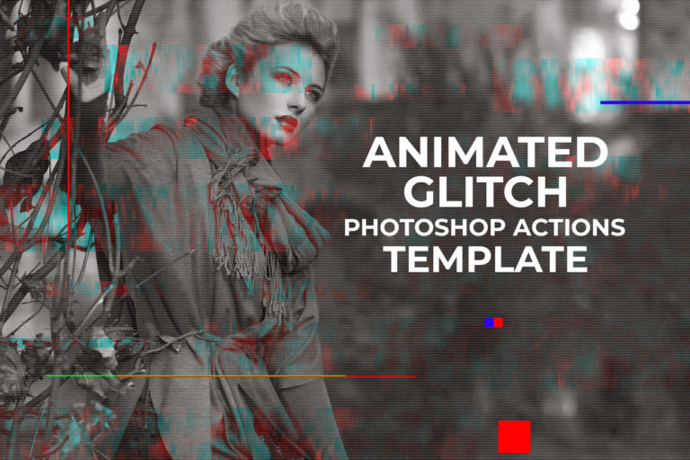 Preview image of Gif Glitch Animated Photoshop Action