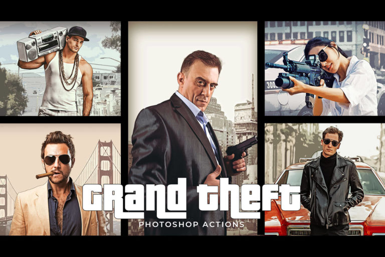 Preview image of Grand Theft Photoshop Actions