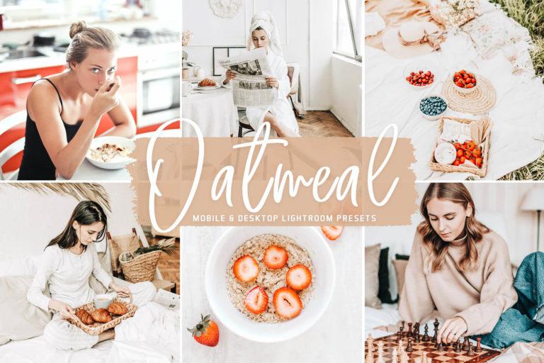 Preview image of Oatmeal Mobile & Desktop Lightroom Presets