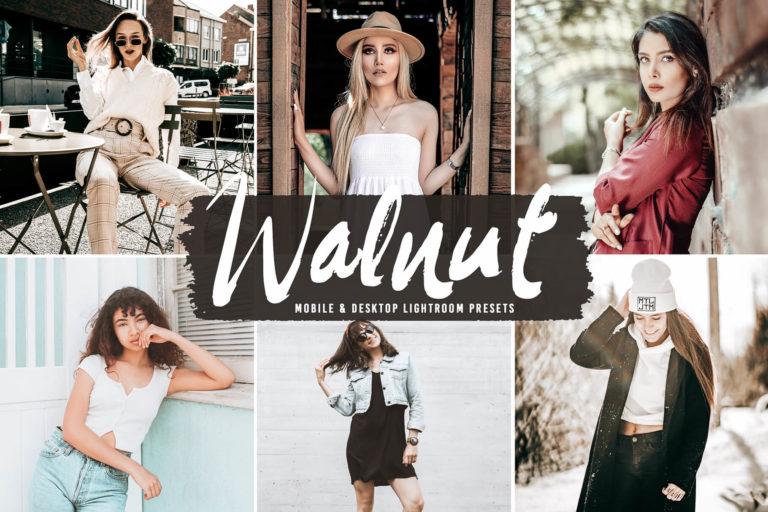 Preview image of Walnut Mobile & Desktop Lightroom Presets
