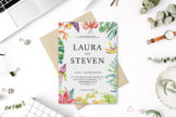 Last preview image of Whimsical Watercolor Wedding Invitation Template