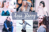 Last preview image of Acai Berry Mobile & Desktop Lightroom Presets
