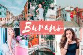 Last preview image of Burano Mobile & Desktop Lightroom Presets