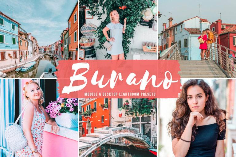 Preview image of Burano Mobile & Desktop Lightroom Presets