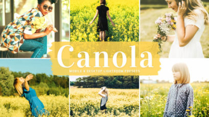 Canola Mobile & Desktop Lightroom Presets