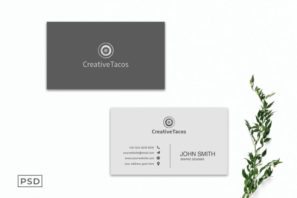 Creative Minimal Business Card Template
