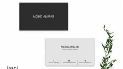 Creative Minimal Business Card Template V2