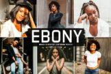 Last preview image of Ebony Mobile & Desktop Lightroom Presets