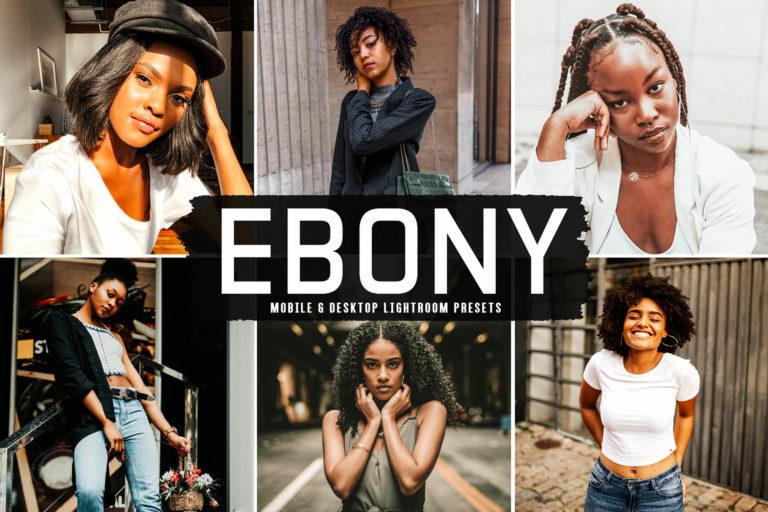 Preview image of Ebony Mobile & Desktop Lightroom Presets