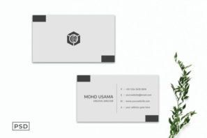 Grey Creative Minimalist Business Card Template