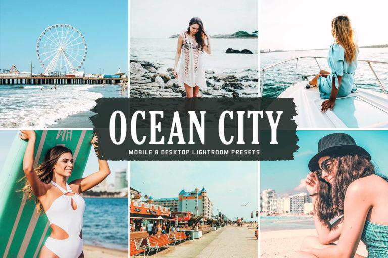 Preview image of Ocean City Mobile & Desktop Lightroom Presets