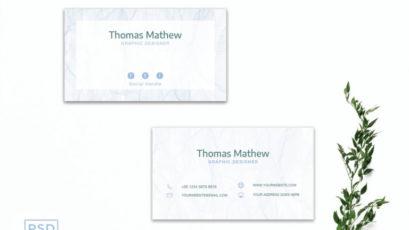 White Innovative Minimal Business Card Template