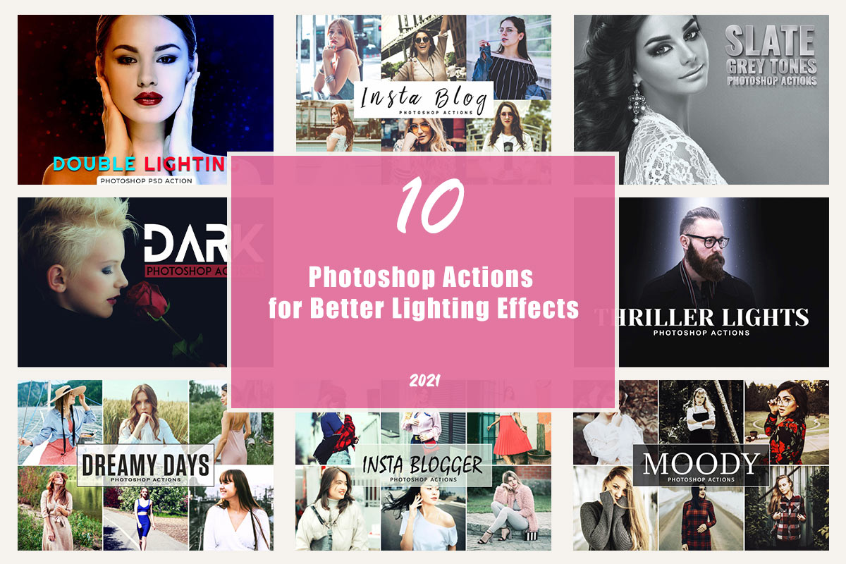 Photoshop Actions for Better Lighting Effects