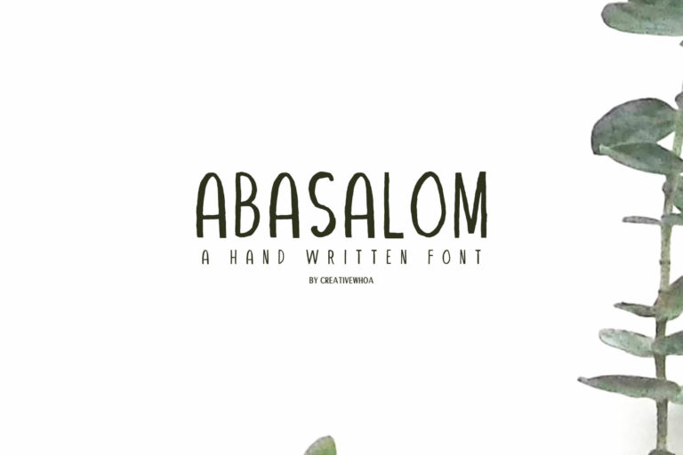 Preview image of Abasalom | A Handwritten Font