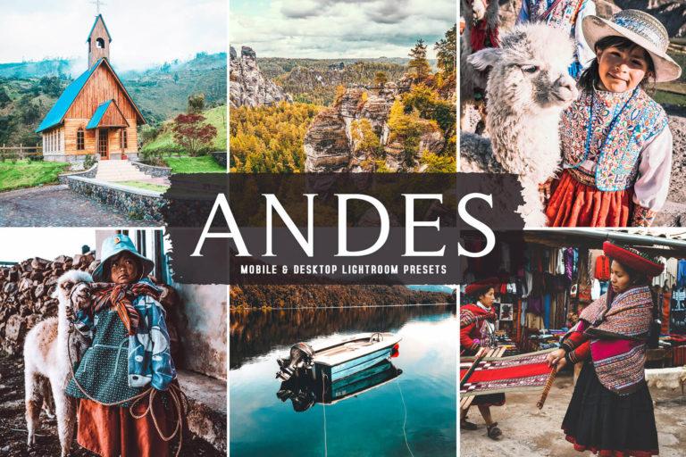 Preview image of Andes Mobile & Desktop Lightroom Presets
